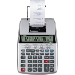 Canon 12-Digit Printing Calculator, 6-2/5 inWx9-1/10 inLx2-1/5 inH, Silver