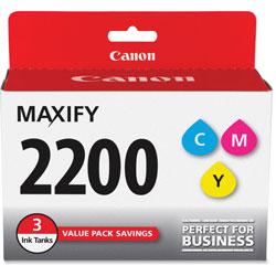 Canon Ink Tank, f/PG-2200, 3/PK, Cyan/Magenta/Yellow