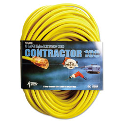 CCI Vinyl Outdoor Extension Cord, 50 Ft, 15 Amp, Yellow