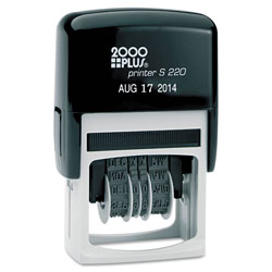 Consolidated Stamp Economy Dater, Self-Inking, Black