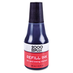Consolidated Stamp Self-Inking Refill Ink, Black, 0.9 oz. Bottle