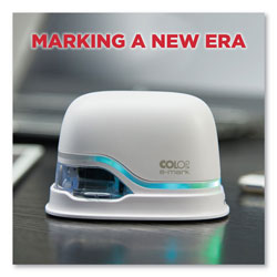 Consolidated Stamp Digital Marking Device, Customizable Size and Message with Images, White