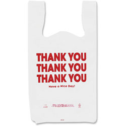 "Consolidated Stamp 063036 Thank You Printed .5 mil Plastic Bags, 11"" x 6"" x 22"""