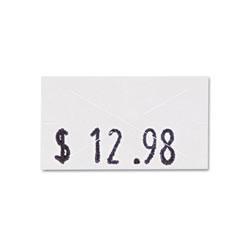 Consolidated Stamp Pricemarker Labels, 0.44 x 0.81, White, 1,200/Roll, 3 Rolls/Box