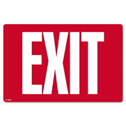 Consolidated Stamp Glow-in-the-Dark Safety Sign, Exit, 12 x 8, Red