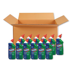 Clorox Toilet Bowl Cleaner with Bleach, Fresh Scent, 24oz Bottle, 12/Carton