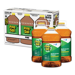 Pine Sol Multi-Surface Cleaner Disinfectant, Pine, 144oz Bottle, 3 Bottles/Carton