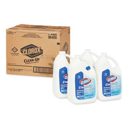 Clorox Clean-Up Disinfectant Cleaner with Bleach, Fresh, 128 oz Refill Bottle, 4/Carton