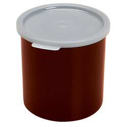 Cambro Crock Solid 1.2 Quart With Lid Reddish Brown