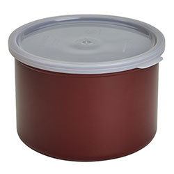 Cambro Crock Solid 1.5 Quart With Lid Reddish Brown