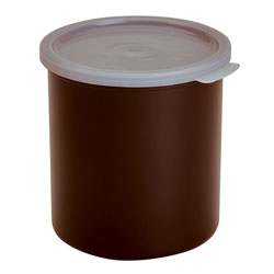 Cambro Crock Solid 2.7 Quart With Lid Reddish Brown