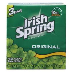 Irish Spring® Bar Soap, Clean Fresh Scent, 3.75oz, 3 Bars/Pack, 18 Packs/Carton