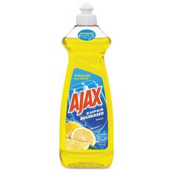 Ajax Dish Detergent, Lemon Scent, 28 oz Bottle, 9/Carton