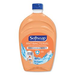 Softsoap Antibacterial Liquid Hand Soap Refills, Fresh, 50 oz, Orange, 6/Carton