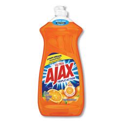 Ajax Dish Detergent, Liquid, Antibacterial, Orange, 52 oz, Bottle, 6/Carton