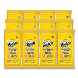 Fabuloso® Multi Purpose Wipes, Lemon, 7 x 7, 24/Pack, 12 Packs/Carton