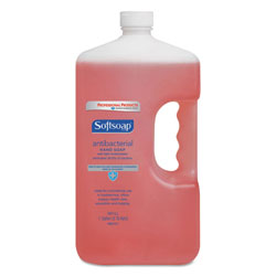 Softsoap Antibacterial Liquid Hand Soap Refill, Crisp Clean, Pink, 1gal Bottle, 4/Carton