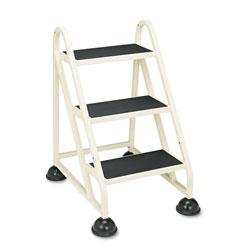Cramer Industries Stop-Step Ladder, 32.75 in Working Height, 300 lbs Capacity, 3 Step, Beige