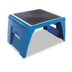 Cramer Industries Folding Step Stool, 1-Step, 300 lb Capacity, 14w x 11.25d x 9.75h, Blue