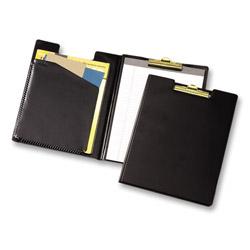 Cardinal Business Basics™ Vinyl Clip Folder with Expand-A-Pocket®, 9-1/2 x 12-1/2, Black