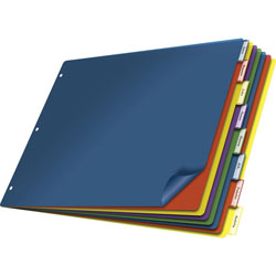 Cardinal Poly Insertable Dividers, 8-Tab, Multicolor