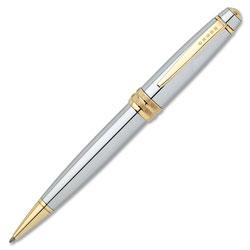 A.T. Cross Company Bailey Executive-styled Chrome Ballpoint Pen, Black Ink