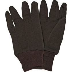 Crews General Purpose Jersey Cotton Clute Gloves, One Size, Brown, 12 Pairs
