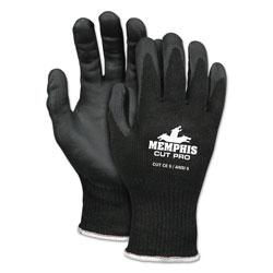 Memphis Glove Cut Pro 92720NF Gloves, X-Large, Black, HPPE/Nitrile Foam