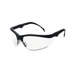 MCR Safety Klondike Magnifier Glasses, 1.5 Magnifier, Clear Lens