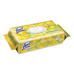 Lysol Disinfecting Wipes, Lemon & Lime Blossom Scent, Flatpack, 80 Wipes/Pack, 6 Packs/Carton, 480 Wetwipes