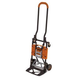 Cosco 2-in-1 Multi-Position Hand Truck and Cart, 16.63 x 12.75 x 49.25, Gray/Orange