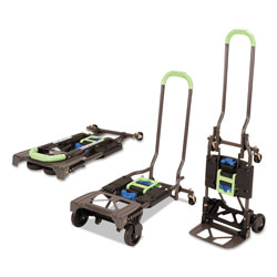 Cosco 2-in-1 Multi-Position Hand Truck and Cart, 16.63 x 12.75 x 49.25, Blue/Green