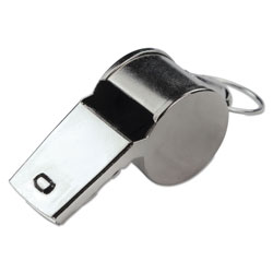 CH Sports Whistle, Medium Weight, Metal, Silver
