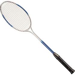 Champion Double Steel Shaft Badminton Racket, Steel/Red