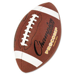 Champion Pro Composite Football, Junior Size, 20.75 in, Brown