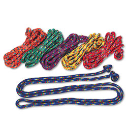 Champion Braided Nylon Jump Ropes, 8ft, 6 Assorted-Color Jump Ropes/Set