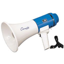 Champion Megaphone, 12-25W, 1000 Yard Range, White/Blue