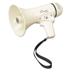 Champion Megaphone, 4-8W, 400 Yard Range, White