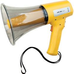 CH MP8W Megaphone, 12W, 800 Yard Range, White/Yellow