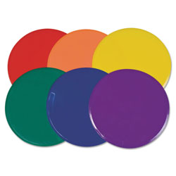 CH Poly Spot Marker Set, 9 in Disks, Assorted Colors, 6/Set