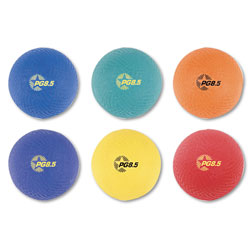 Champion Playground Ball Set, Nylon, Assorted Colors, 6/Set