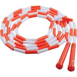 Champion Plastic Segmented Jump Rope, 10 in, Orange/White