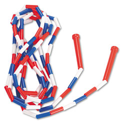 Champion Segmented Plastic Jump Rope, 16ft, Red/Blue/White