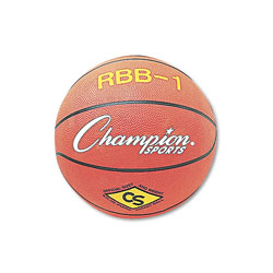 Champion Rubber Sports Ball, For Basketball, No. 7, Official Size, Orange