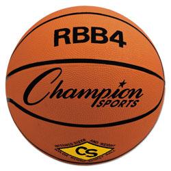 CH Rubber Sports Ball, For Basketball, No. 6, Intermediate Size, Orange