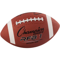 CH Rubber Sports Ball, Football, Official NFL, No. 9, Brown