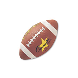 Champion Rubber Sports Ball, For Football, Intermediate Size, Brown
