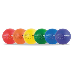 CH Rhino Skin Dodge Ball Set, 8 in Diameter, Assorted, 6 Balls/Set