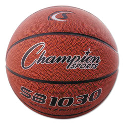 Champion Composite Basketball, Official Intermediate, 29 in, Brown