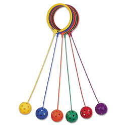 Champion Swing Ball Set, Plastic, Assorted Colors, 6/Set